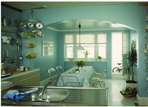 2. Mẫu phòng sử dụng sơn teal 3