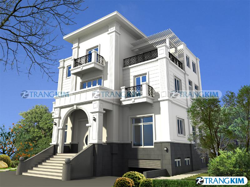 Thiết kế kiến trúc biệt thự tân cổ điển – Anh Trọng, Hà Nội