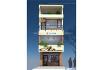 Thiết kế kiến trúc nhà ống 4 tầng – Chú Dũng, Lào Cai