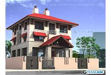 Thiết kế kiến trúc biệt thự hiện đại 3 tầng – Hà Nội