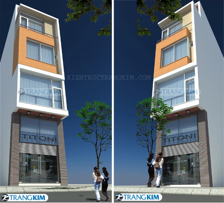 Thiết kế kiến trúc nhà lô phố 5 tầng – Anh Liên, Hà Nội