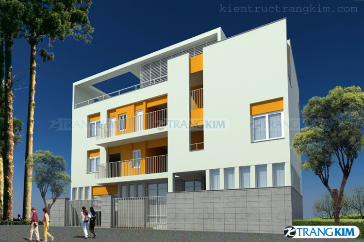Một số hình ảnh phối cảnh thiết kế nhà nghỉ kết hợp nhà ở của chị Hà - Hà Nội 1