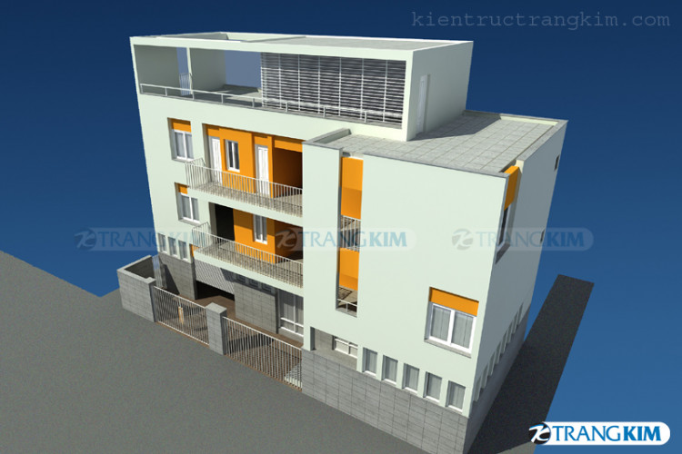 Một số hình ảnh phối cảnh thiết kế nhà nghỉ kết hợp nhà ở của chị Hà - Hà Nội 2