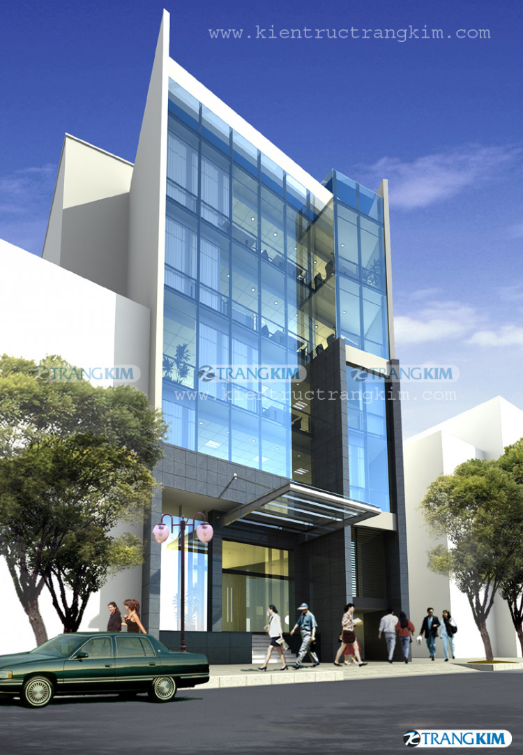 Một số hình ảnh phối cảnh thiết kế kiến trúc văn phòng hiện đại - Hà