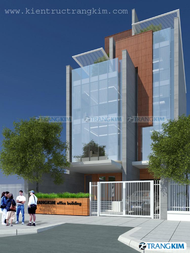 Một số hình ảnh phối cảnh thiết kế kiến trúc văn phòng tại Cần Thơ 1