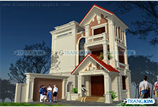Thiết kế kiến trúc biệt thự cổ điển 3 tầng – Chú Luân