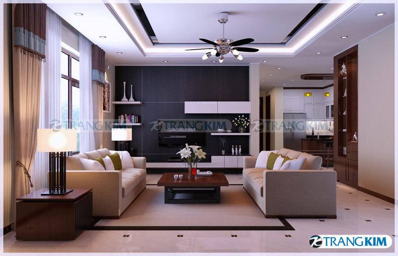 Thiết kế nội thất biệt thự 1 tầng – Anh Thắng, TP Sơn La