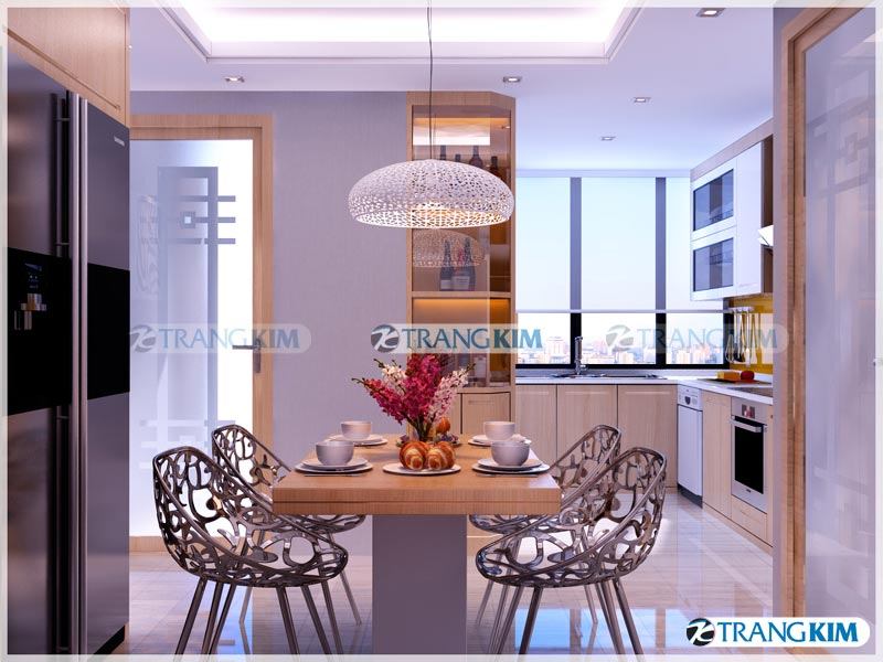 Thiết kế nội thất chung cư Number one Thăng long Hà Nội - Chị Hoa 6