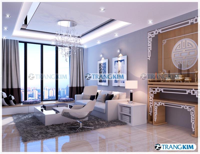 Thiết kế nội thất chung cư Number one Thăng long Hà Nội - Chị Hoa 2