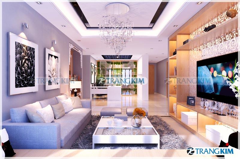 Thiết kế nội thất chung cư Number one Thăng long Hà Nội - Chị Hoa 1