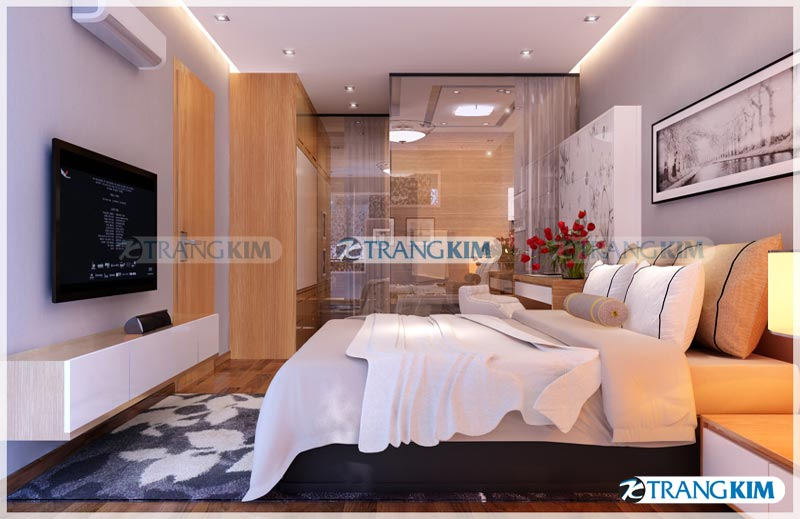 Thiết kế nội thất chung cư Number one Thăng long Hà Nội - Chị Hoa 11