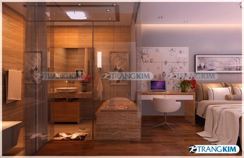 Thiết kế nội thất chung cư Number one Thăng long Hà Nội - Chị Hoa 12