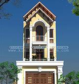 Thiết kế kiến trúc nhà ống theo phong cách cổ điển – Anh Thanh (Sơn La)