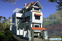 Thiết kế kiến trúc biệt thự 3 tầng có tầng hầm – TP Sơn La