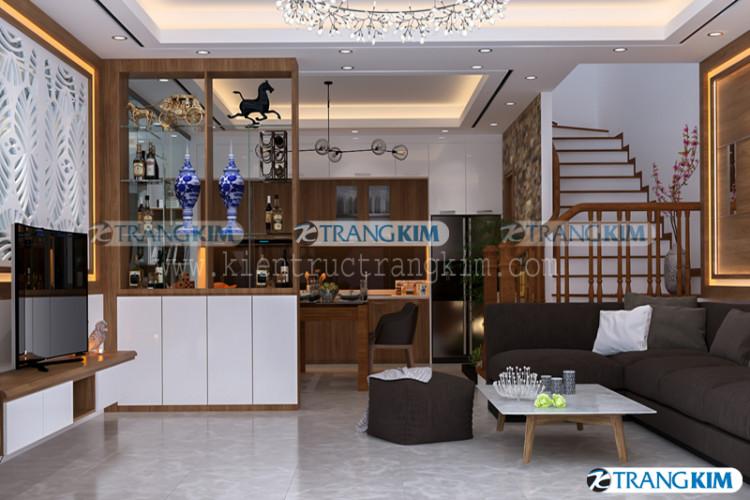 nội thất phòng khách và bếp ăn - v1