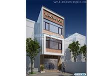 Thiết kế kiến trúc nhà nghỉ hiện đại – Anh Tuấn – TP Hòa Bình