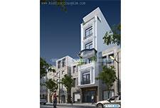 Thiết kế kiến trúc nhà lô phố tân cổ điển – Em Phương – TP Hà Nội