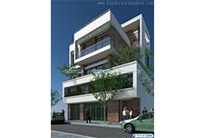Thiết kế kiến trúc biệt thự hiện đại 4 tầng – Anh Hà – Hà Nam