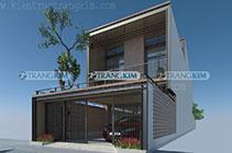 Thiết kế kiến trúc nhà ống 2 tầng thép tiền chế – Hạ Long