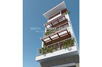 Thiết kế kiến trúc nhà ống 7 tầng – Hà Nội
