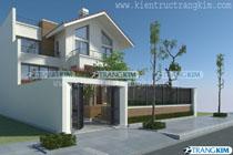 Thiết kế kiến trúc biệt thự hiện đại 2 tầng – Anh Đức – Ninh Bình