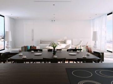 Ấn tượng phòng ăn màu trắng