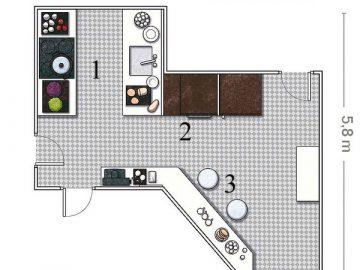Bố trí nội thất cho 5 căn bếp có hình dáng