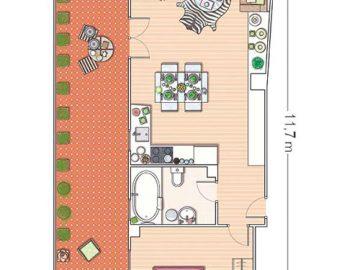 Bài trí căn hộ 40m2 góc cạnh theo phong cách trẻ trung