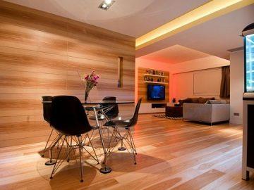 Vẻ đẹp hiện đại của căn hộ gỗ cao cấp ở Hồng Kông