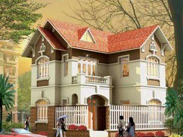 Nhà mái dốc dễ tạo hình cho những thiết kế kiến trúc