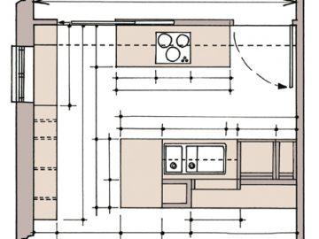 Thiết kế nhà bếp tiện lợi trong 20m2
