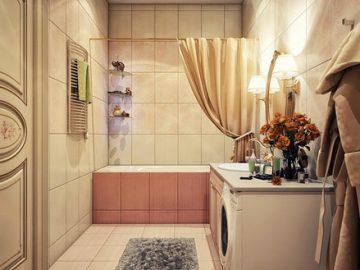 Phòng tắm: sự kết hợp giữa vintage và hiện đại