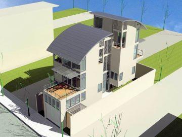 Thông thoáng trong kiến trúc nhà lệch tầng