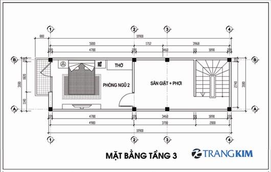 Mặt bằng thiết kế nhà ống diện tích 30m2 3