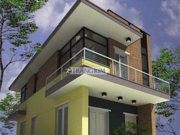 Thiết kế nhà ống 2 tầng 4 phòng ngủ