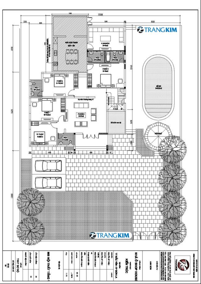 Thông tin chung về thiết kế biệt thự 2 tầng có bể bơi 1