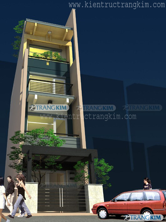 Mẫu thiết kế kiến trúc nhà ống 3, 4, 5 tầng hiện đại của Trang Kim - Phần 1 1