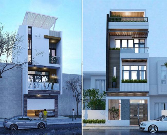 Một số hình ảnh tham khảo phối cảnh kiến trúc nhà ống 3 tầng , 4 tầng , 5 tầng hiện đại 6