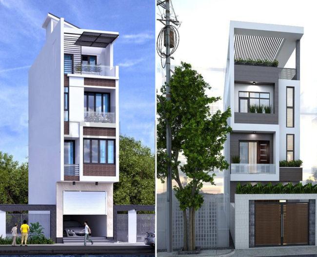 Một số hình ảnh tham khảo phối cảnh kiến trúc nhà ống 3 tầng , 4 tầng , 5 tầng hiện đại 7