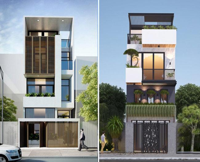 Một số hình ảnh tham khảo phối cảnh kiến trúc nhà ống 3 tầng , 4 tầng , 5 tầng hiện đại 8