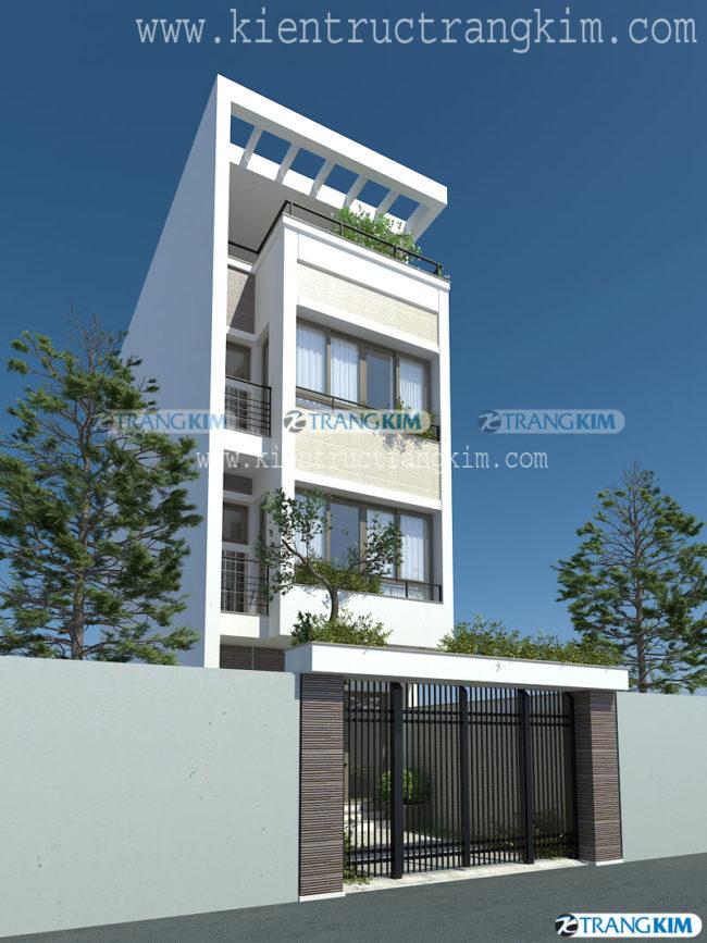 Mẫu thiết kế kiến trúc nhà ống 3, 4, 5 tầng hiện đại của Trang Kim - Phần 1 2
