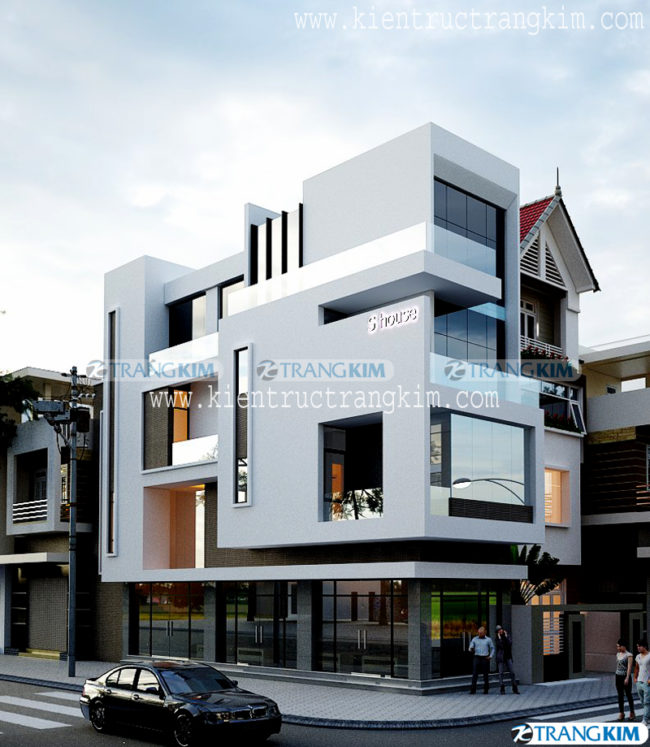 Mẫu thiết kế kiến trúc nhà ống 3, 4, 5 tầng hiện đại của Trang Kim - Phần 1 3