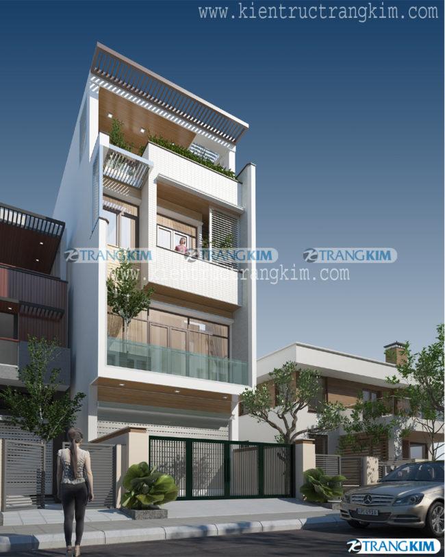 Mẫu thiết kế kiến trúc nhà ống 3, 4, 5 tầng hiện đại của Trang Kim - Phần 1 5