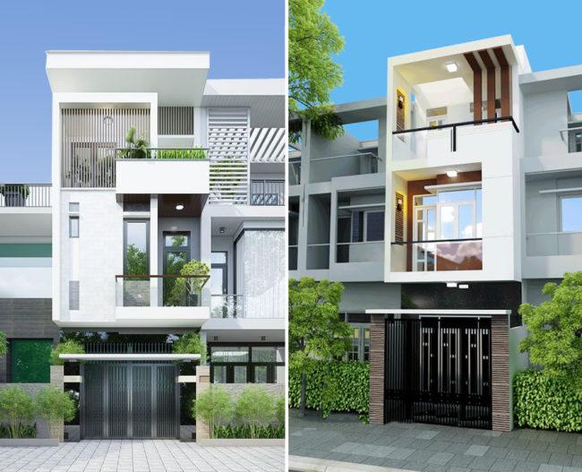 Một số hình ảnh tham khảo phối cảnh kiến trúc nhà ống 3 tầng , 4 tầng , 5 tầng hiện đại 1