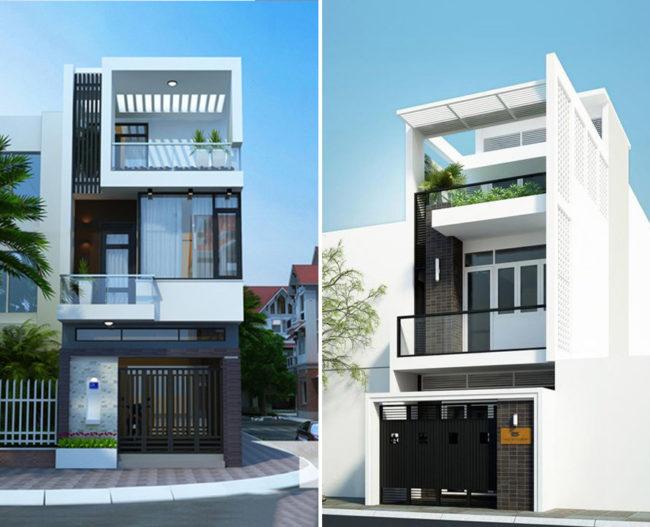 Một số hình ảnh tham khảo phối cảnh kiến trúc nhà ống 3 tầng , 4 tầng , 5 tầng hiện đại 2