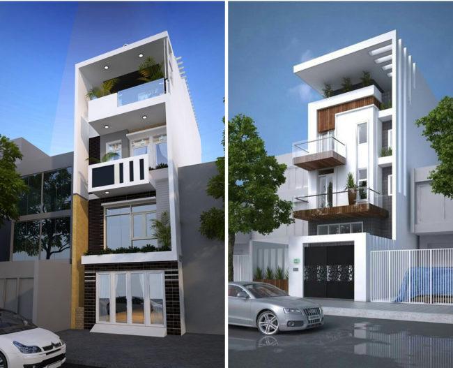 Một số hình ảnh tham khảo phối cảnh kiến trúc nhà ống 3 tầng , 4 tầng , 5 tầng hiện đại 4