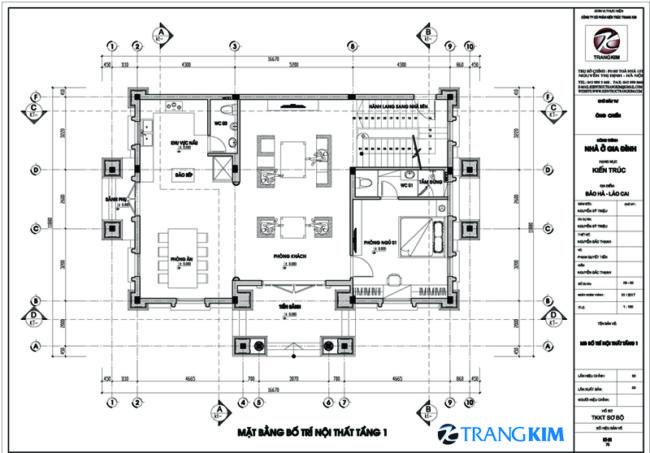 Mặt bằng thiết kế tầng 1 1