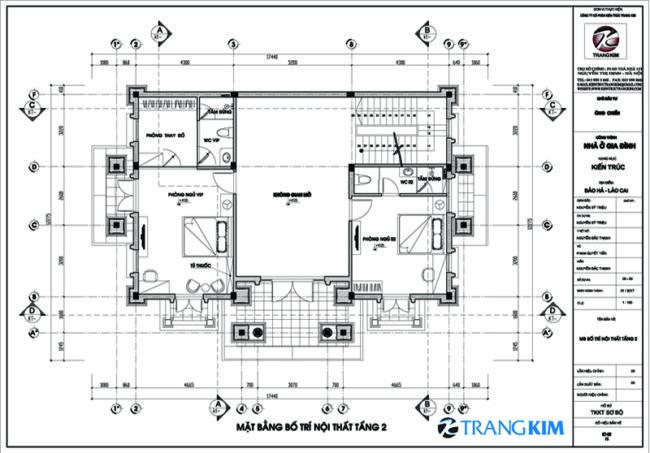 Mặt bằng thiết kế tầng 2 1