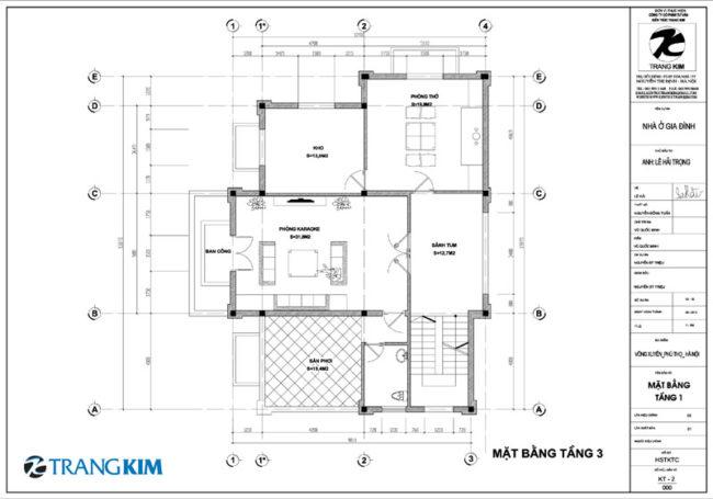 Mặt bằng thiết kế tầng 3 1
