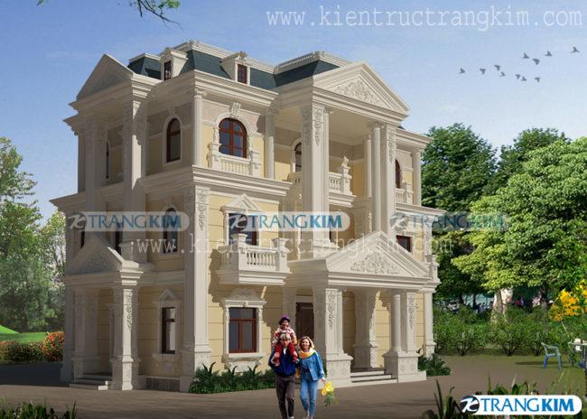 Thiết kế kiến trúcbiệt thự cổđiển 1